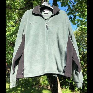 Columbia men's olive full zip up fleece sweater